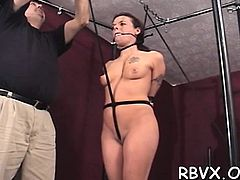 Mature milf gets bondage treatment with one more gal