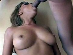 Ebony slut fucked for hardcore creampie interracial  1