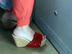 Candid Mature Wedges In Bus