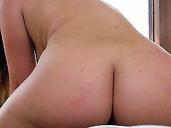 Maddy Oreilly is a sex hungry slut wit small boobs and hot ass. She get her twat ruthlessly drilled all over the house in many positions, She loves taking brutal cock from behind.