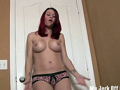 Jerk off all over my bouncy tits JOI