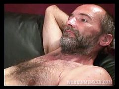 Bobby is a carpenter who works a second job parking cars at a night club, so he was a bit worn out for this shoot. Even so, this 40 year old man did great. You have to love that about him I hope to see this cute man again.