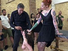 Today, this honorable duty will be performed by Francesca Dicaprio and any person who came to our club, can wish anything, and she will gladly satisfy him. Silvia asked to wash her vagina and Francesca cleans her pussy with her tongue. What other desires do you have?