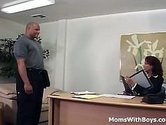 MomsWithBoys Mature Office Fuck With Vanessa Videl