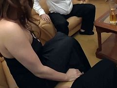 CHUBBY JAPANESE WIFE  FUCKED IN STOCKING