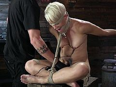 Athletic MILF Helena Locke Submits to Rope Bondage