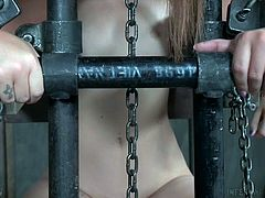 Maddy and Samantha are bound in their executor's devices, and both are put through some pain as well as pleasure. Steel bars and chains keep the women just where they are wanted, and they must do exactly as they are told or face further consequences.