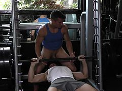 The gym is a great place to meet a sexy stud who will plow your tight ass. This gay dude found a hunk that wanted to stick his cock in his butthole so bad. They went to the locker room and fucked like wild.
