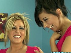 College cfnm babe cockriding for initiation