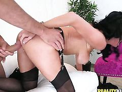 Mature Veronica Avluv with massive hooters and bald cunt spends time having sex with hard dicked ban