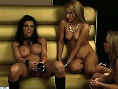 Blonde Aletta Ocean with huge breasts is hungry for lesbian sex and gets used by Aleska Diamond, The