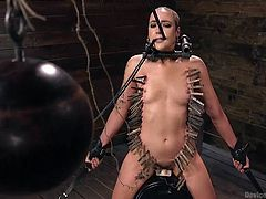Each time his insidious torture is more and more complicated, his cunning bondage devices are more terrible, and his wards are more and more enduring. Just take a look at Lilith Luxe and at her unenviable position. Helpless women vs hard metal bondage. Have fun!