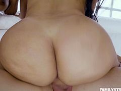 Lucky dude with a big dick drills pussies of mouth watering milfs