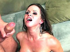 Rachel Roxxx gets a cumshot in ass after her tight little cunt gets banged and shagged for hours before she gets that juice out of that long fat king kong.