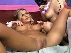 Lesbian action with McKenzee Miles, April O Neal and Alexa Jaymes