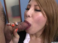 When the urge comes she has to have a cock or three. This office bitch has a fat dick in her mouth a dick in her pussy and one waiting. The working spirit was never higher!