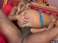 Tight blonde loves to ride him