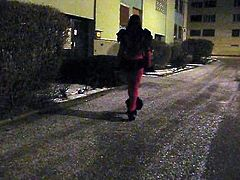 French crossdresser walk outdoor for and with Mistress ! 2