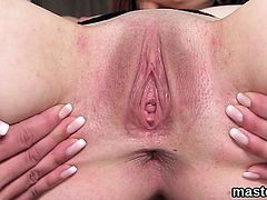 Slutty czech nympho opens up her slim snatch to the special8