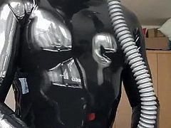 Me posing in shiny Latex