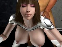 Horny 3D anime bitch gives blowjob