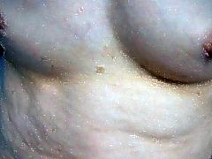 small tits and fucking, fingering and spreading hairy pussy
