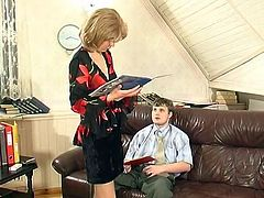 Nylon Russian Mature and young Boy
