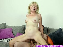Seductive gilf loves riding her lovers cock