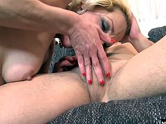 This blonde cougar cant wait to get her fill of barely legal dick, and shes hooked from her first taste of precum when she starts sucking him hard She pushes her fuckboy hard, wanting it deeper and faster, until shes cum enough to reward him with some more head