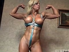 Sexy Female Bodybuilder Blonde Megan Avalon