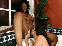 Celeste Star and Missy Martinez hook up with a chick for a threesome
