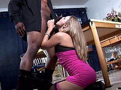 Shes ambitious and wants to get off just as much as he does. After hanging up the phone and getting freshened up, shes ready to go to the door, let him in, and get on her knees to get him nice and hard.