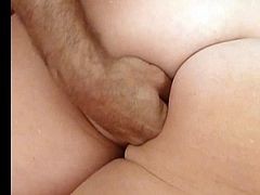 Many fingers in her asshole, opening it for anal penetration