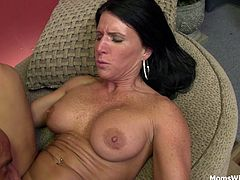 Milf Kendra Secrets is trying to earn more money by doing a webcam. But, she got offered more money if Barry fucks her and they record it. Kendra was more than willing. Watch and enjoy the show!
