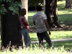 Friendly speaking I've noticed her ass in the beginning. Her tiny butt in blue jeans made me crazy and my dick in my pants was agree with me. Later I've noticed that her wallet is falling out from her backpack. That was my chance to start conversation. She was so glad that even offer me some money and it was perfect time for response offer. Would you sleep with me for money, babe? I asked. She said 'No' and went away with her boyfriend, but I kept my camera on, coz I saw - they have doubts and maybe they will come back soon. Lucky me - they did! I invited them to my apartment and on our way th