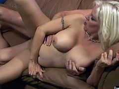 Youll be watching as she takes off her bra and panties, before sitting on her boyfriends hard cock, riding it as she tries to get an orgasm, before he screws her from behind and gives her a creampie, until she sucks his dick for the leftover cum.