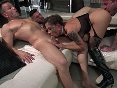Oh my God! We have five hard dicks and only one tight pussy... What to do? How to be? How to satisfy all these horny guys? Well, I think we do not need to worry if Malena with us. She is able to please everyone with her warm pussy, tight asshole and hungry mouth... Wild gangbang just for your pleasure!