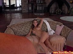 Roxanne Hall's tight pussy penetrated by a horny lover