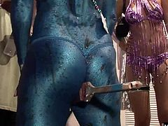 College students have been very busy because, theyre loaded with strings of beads, that are only awarded to those who flash their boobs Youll also see a couple very nice bubble butts, owned by girls who are wearing fishnet stocking plus, youll be watching a painted lesbian, sucking the on the nipples of her lover