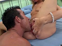 Shes got one of those super responsive pussies and just a few rubs of her clit will have her clamping down on her partners cock and cumming. She may be sexy but Nicole can take cock like a pro and she has no problem throating her stunt dicks meat all the way down before sliding it in her wet slit.