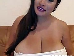Chubby Brunette With Amazing Big Natural Boobs