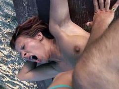 Horny mature redhead Cindy gets assfucked