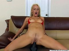 Small-titted Holly Wellin feels amazing on a pulsating black rod