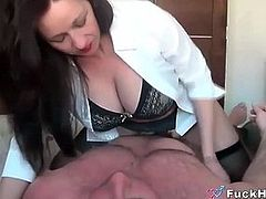 Sucking Lactating Mommys Big Tits & Fucking Her Pussy