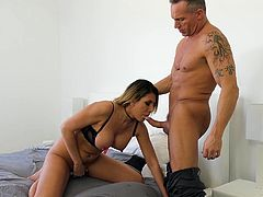 I entered the room without a knock and found Makayla Coxxx lying on the bed and masturbating there. How could I withstand the temptation... I put my hand on her big and soft breast and my dick in her mouth. Have fun and enjoy the juicy details!