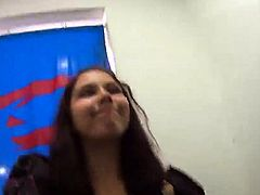 Charming czech cutie is tempted in the shopping centre and b