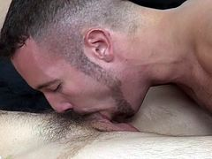 Sexy gay guy sucking Dick and eating cum