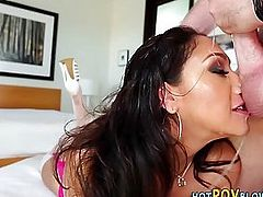 Deepthroating lingerie hos mouth cum filled with wam dong pov