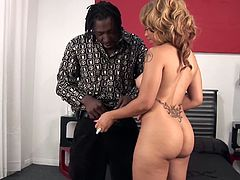 Melrose Foxxx's tight pussy fucked well by a black lover