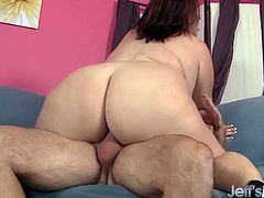 Mature BBW gets her big tits sucked Then they have oral sex Then she gets her plump pussy fucked hard and deep in many positions He cums in her mouth